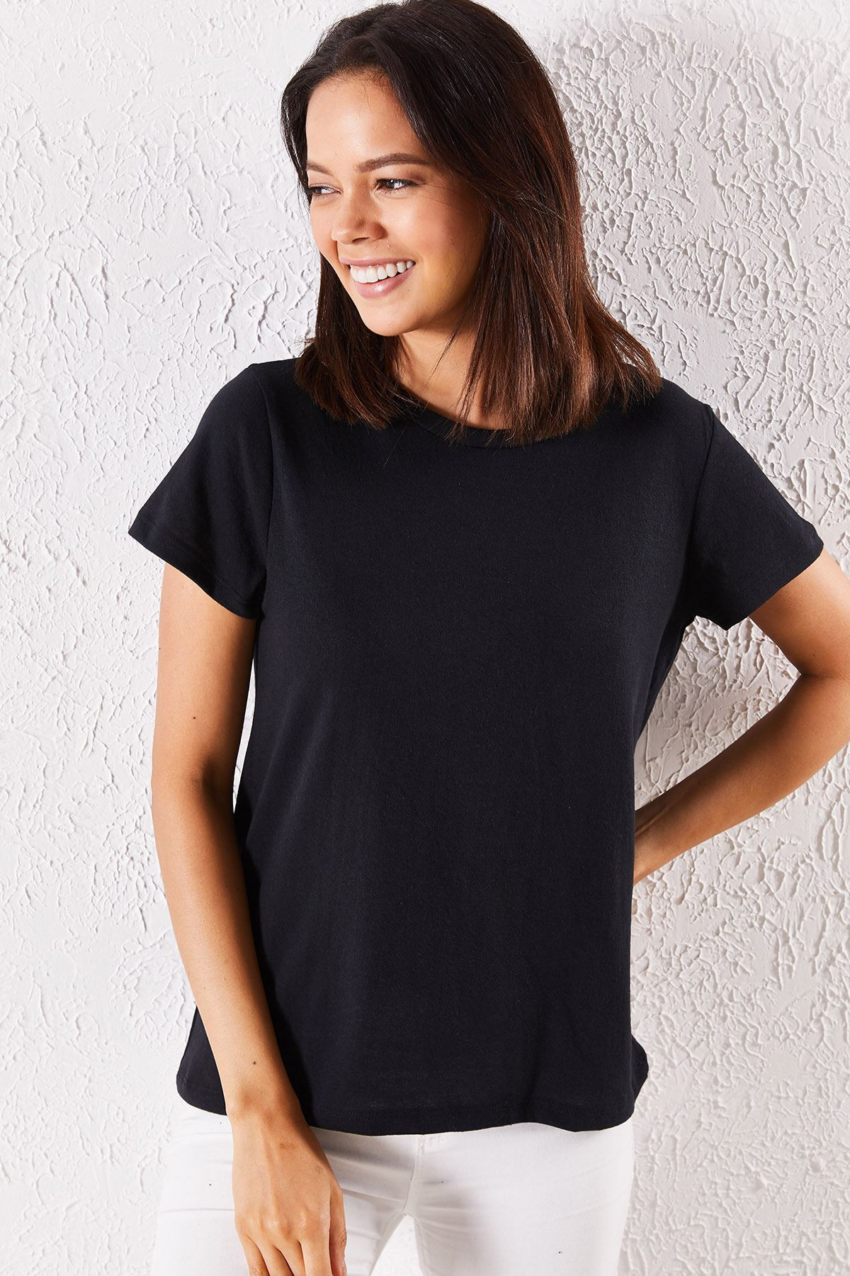 Kadın Eşli Mrs. Baskılı Siyah Tişört