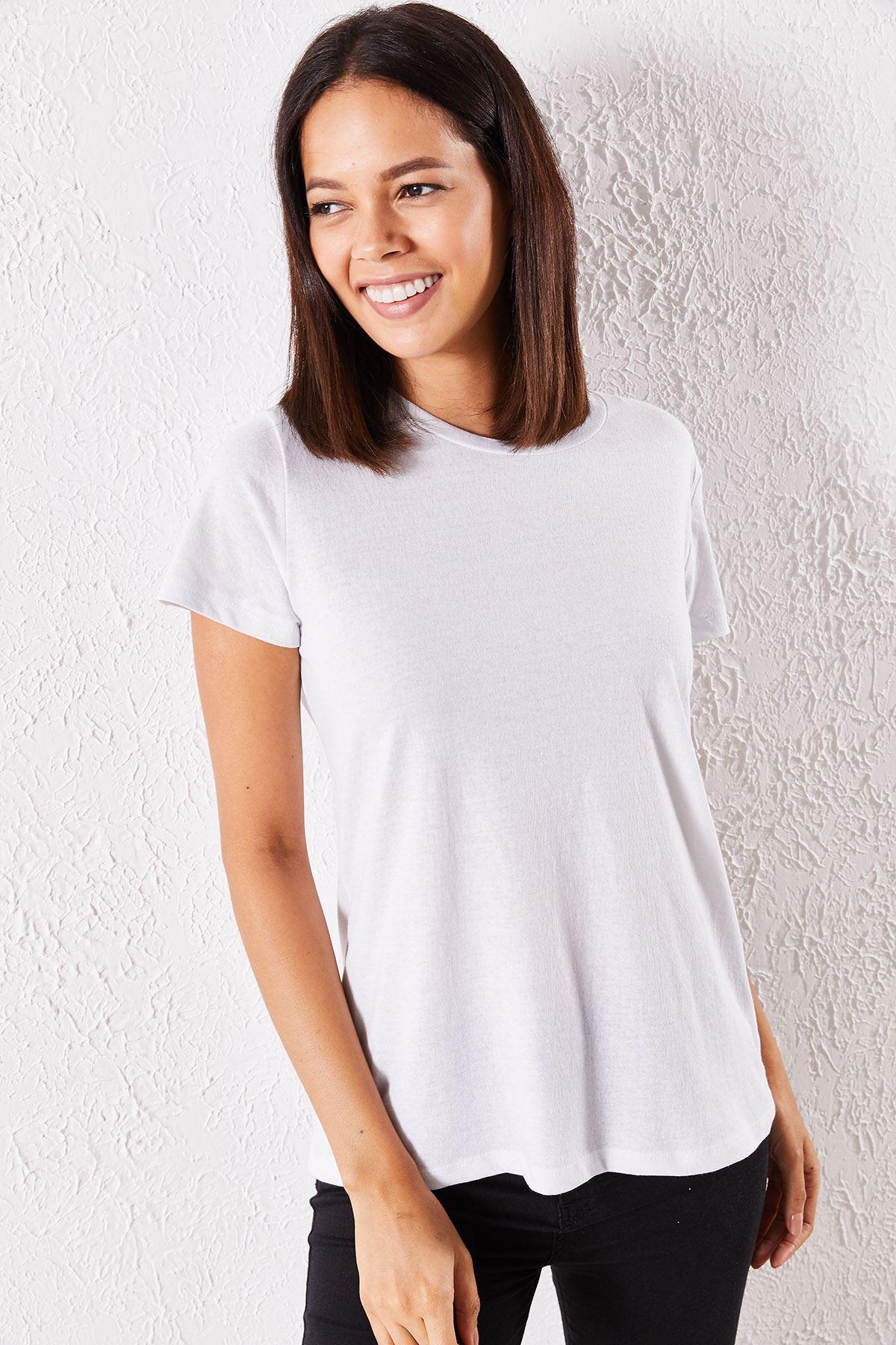 Kadın Eşli Mrs. Baskılı Beyaz Tişört