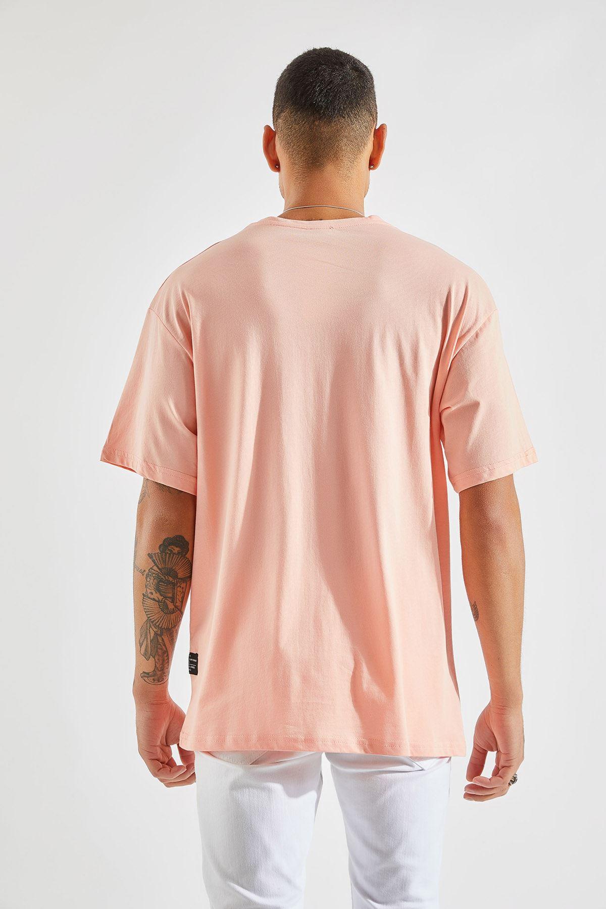 Erkek Oversize Somon Tişört