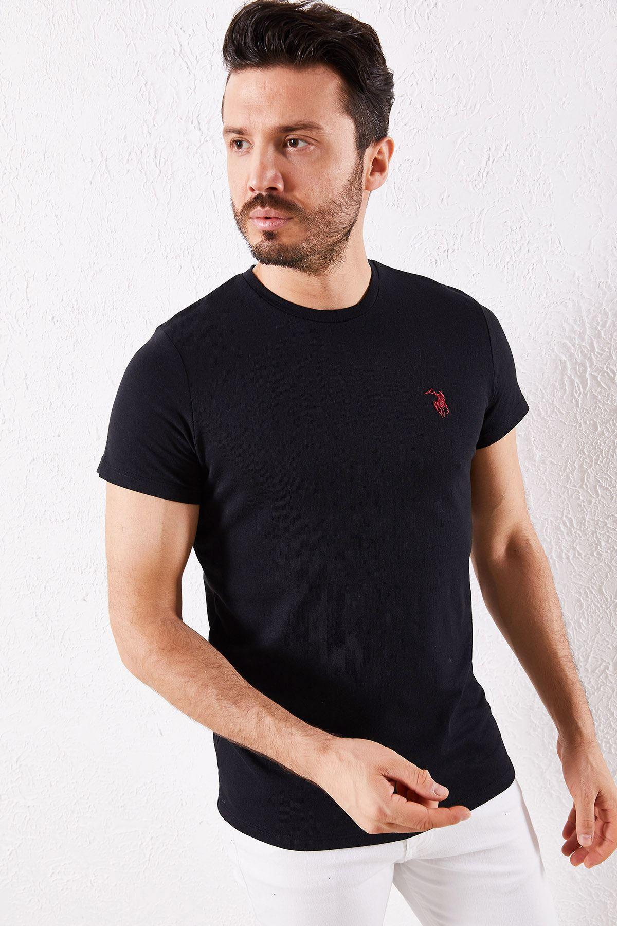 Erkek Klasik Siyah Tişört