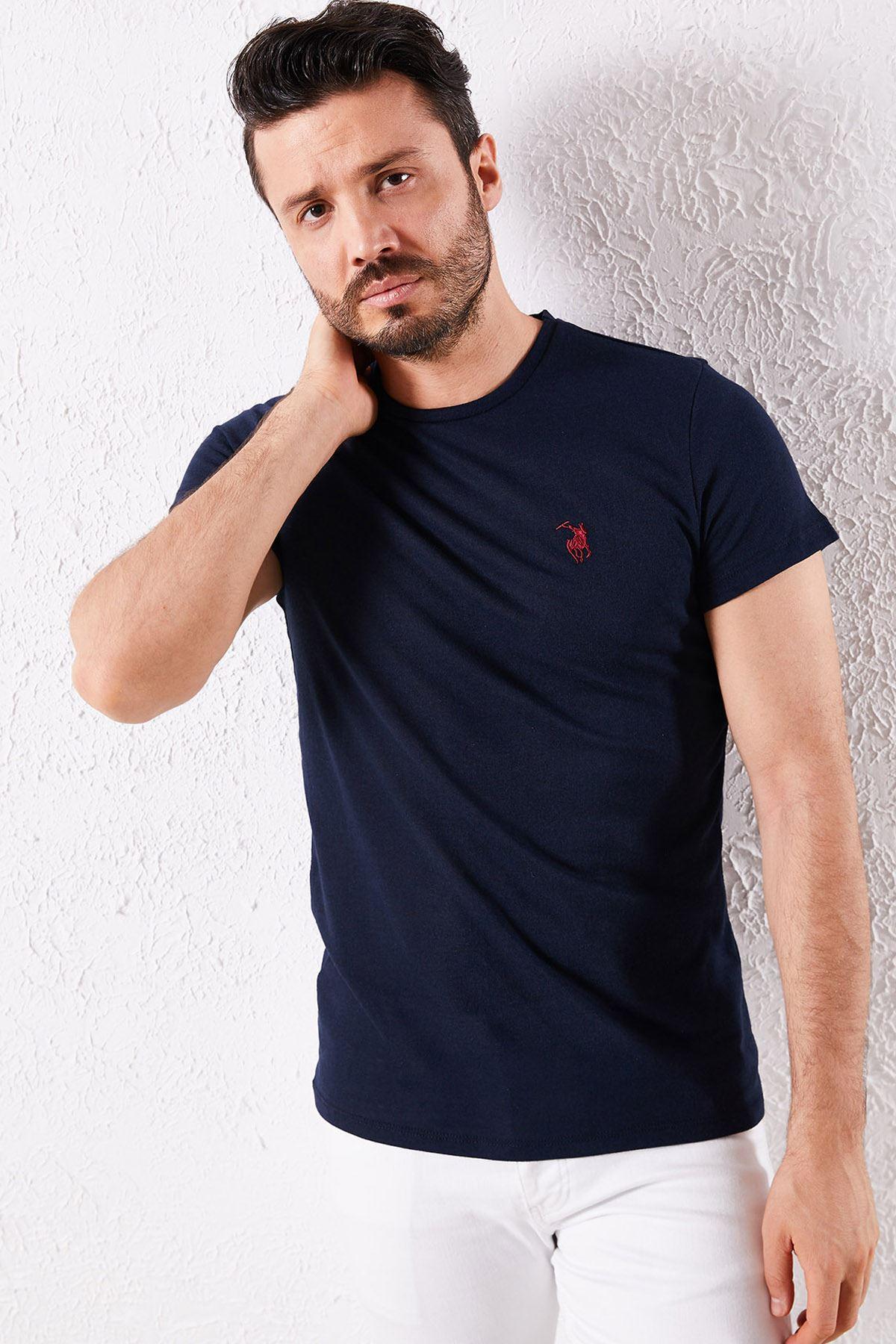 Erkek Klasik Lacivert Tişört