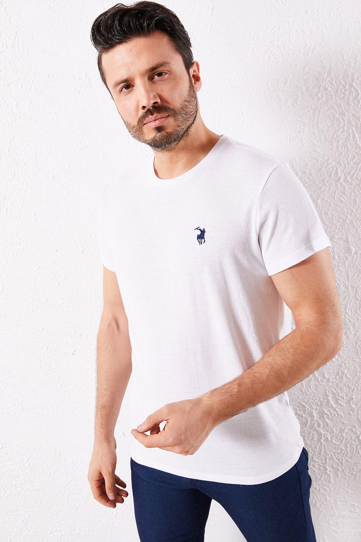 Erkek Klasik Beyaz Tişört