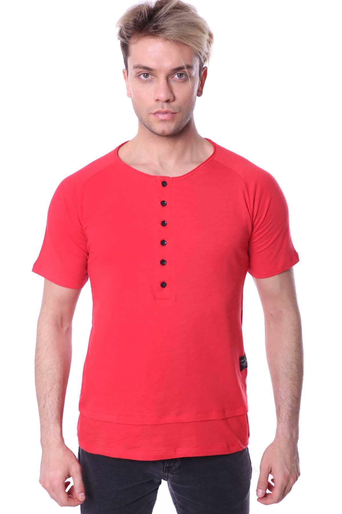 Erkek Uzun Patlı Flamlı Tişört