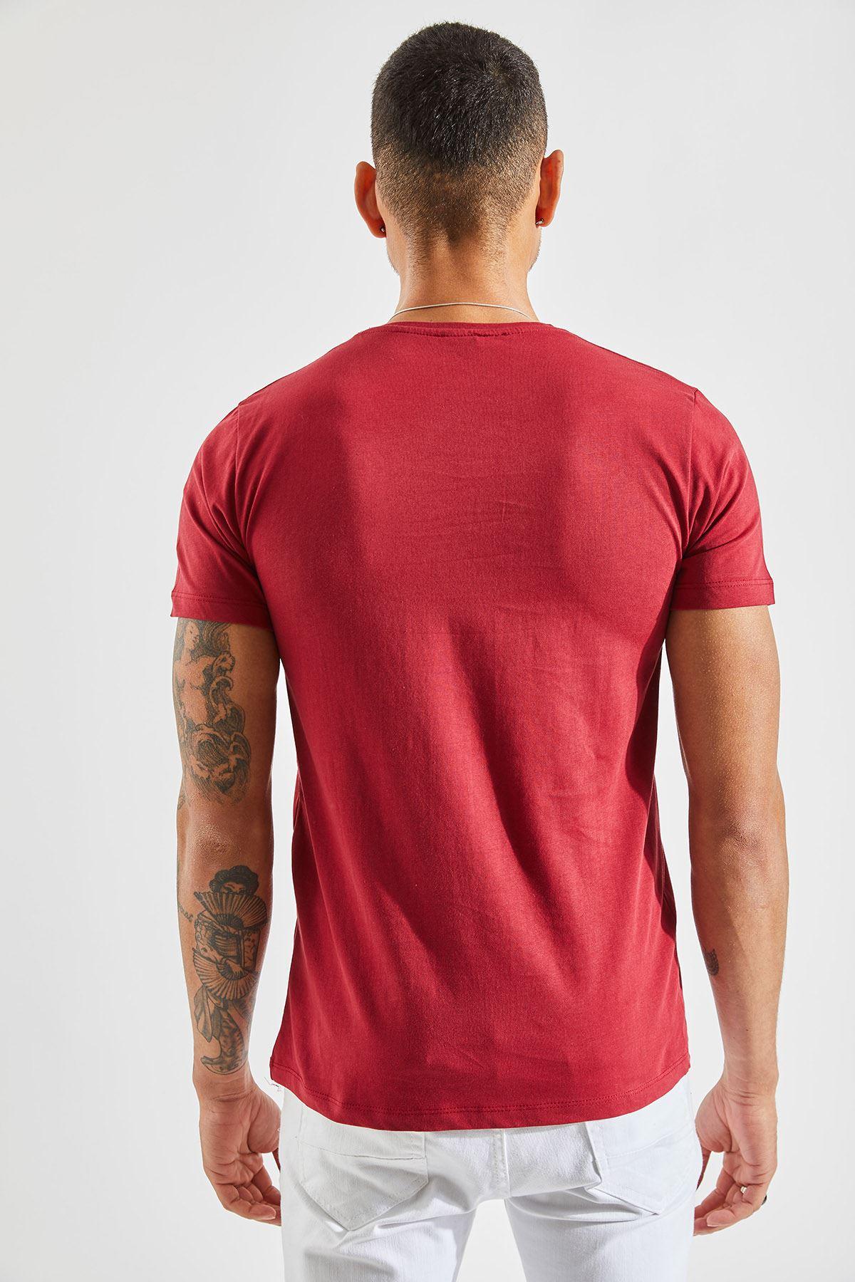 V Yaka Bay Bordo T-Shirt