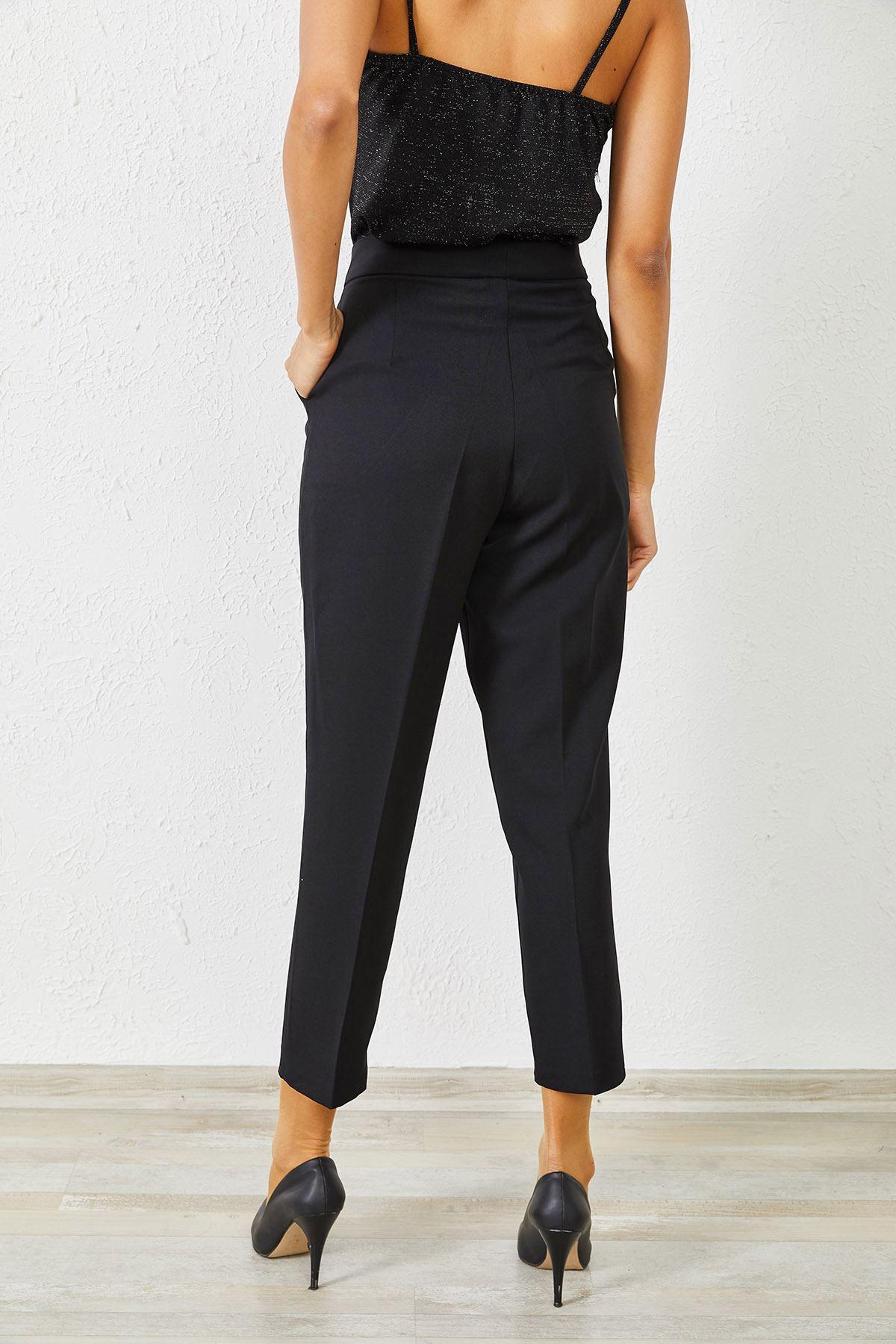 Kadın Klasik Siyah Kalem Pantolon