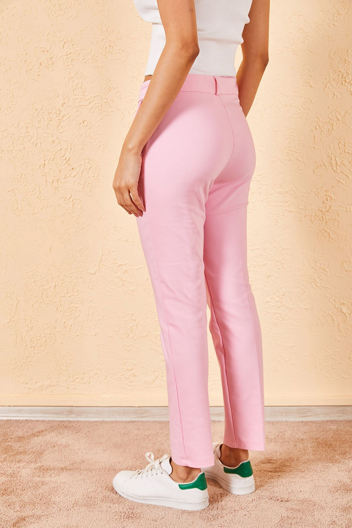 Kadın Kalem Pembe Pantolon