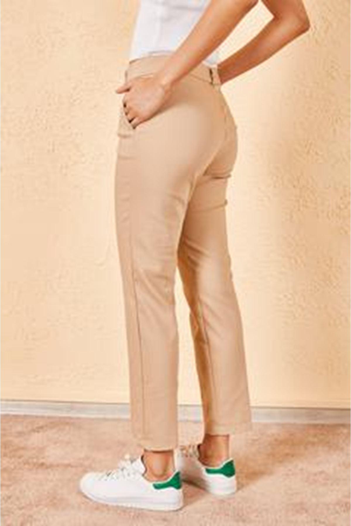 Kadın Kalem Bej Pantolon