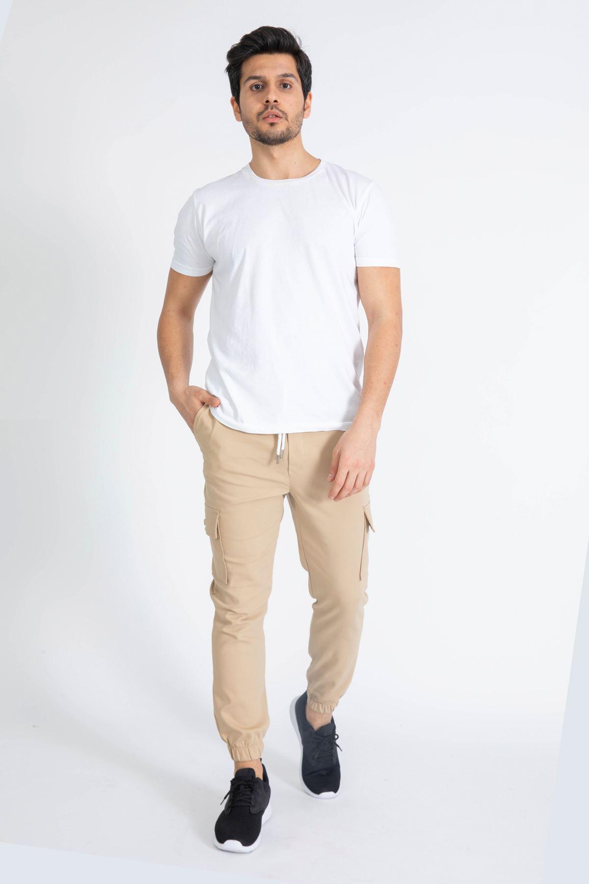 Erkek Komando Cep Vizon Pantolon