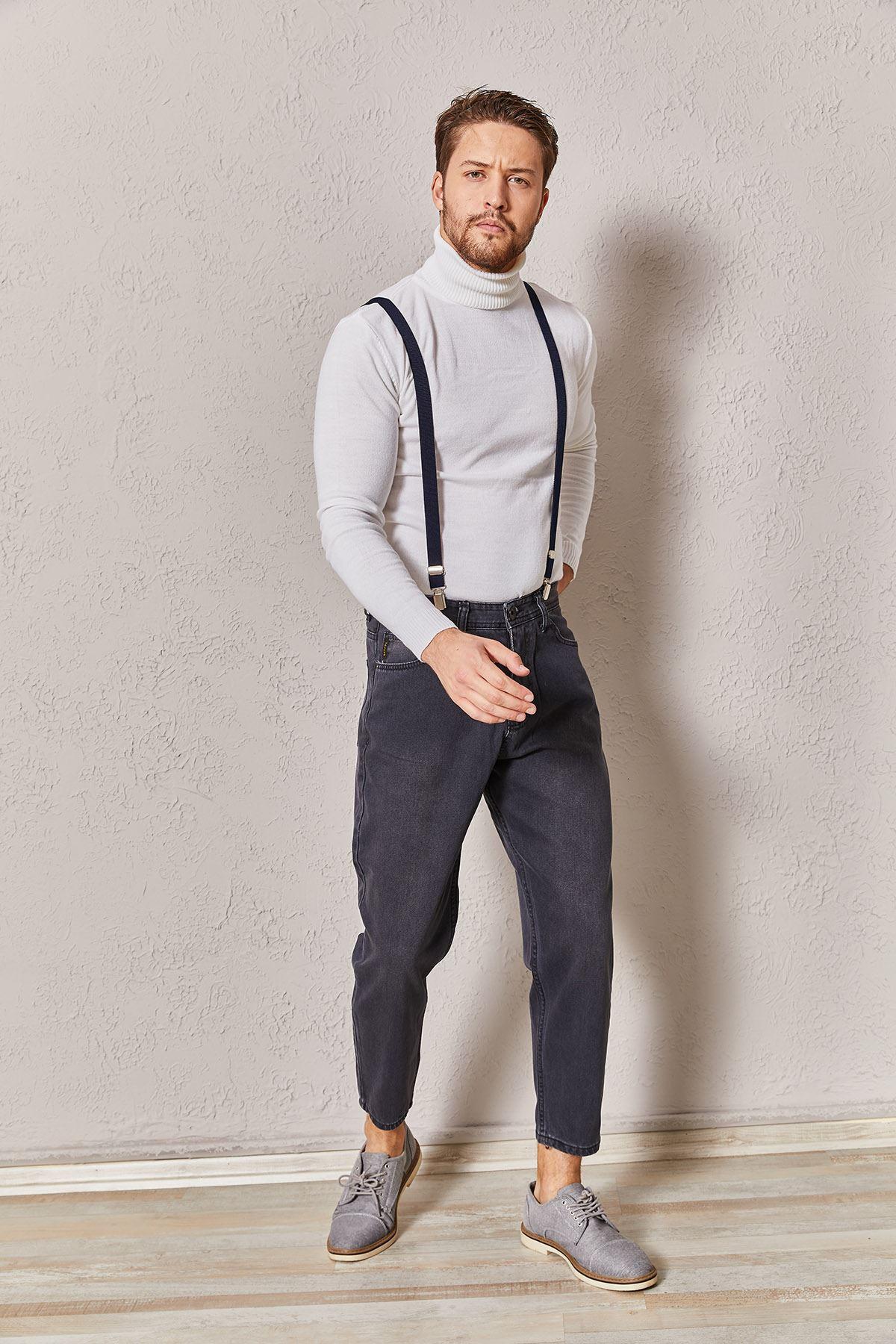 Erkek Slim Füme Kot Pantolon