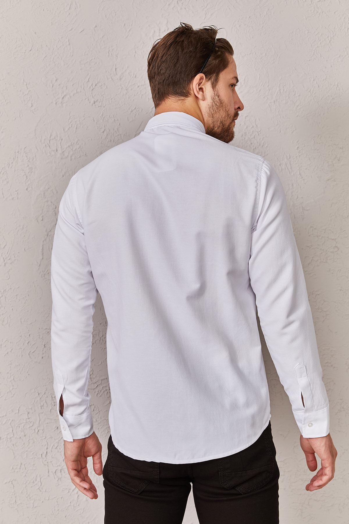 Erkek Düz Beyaz Gömlek