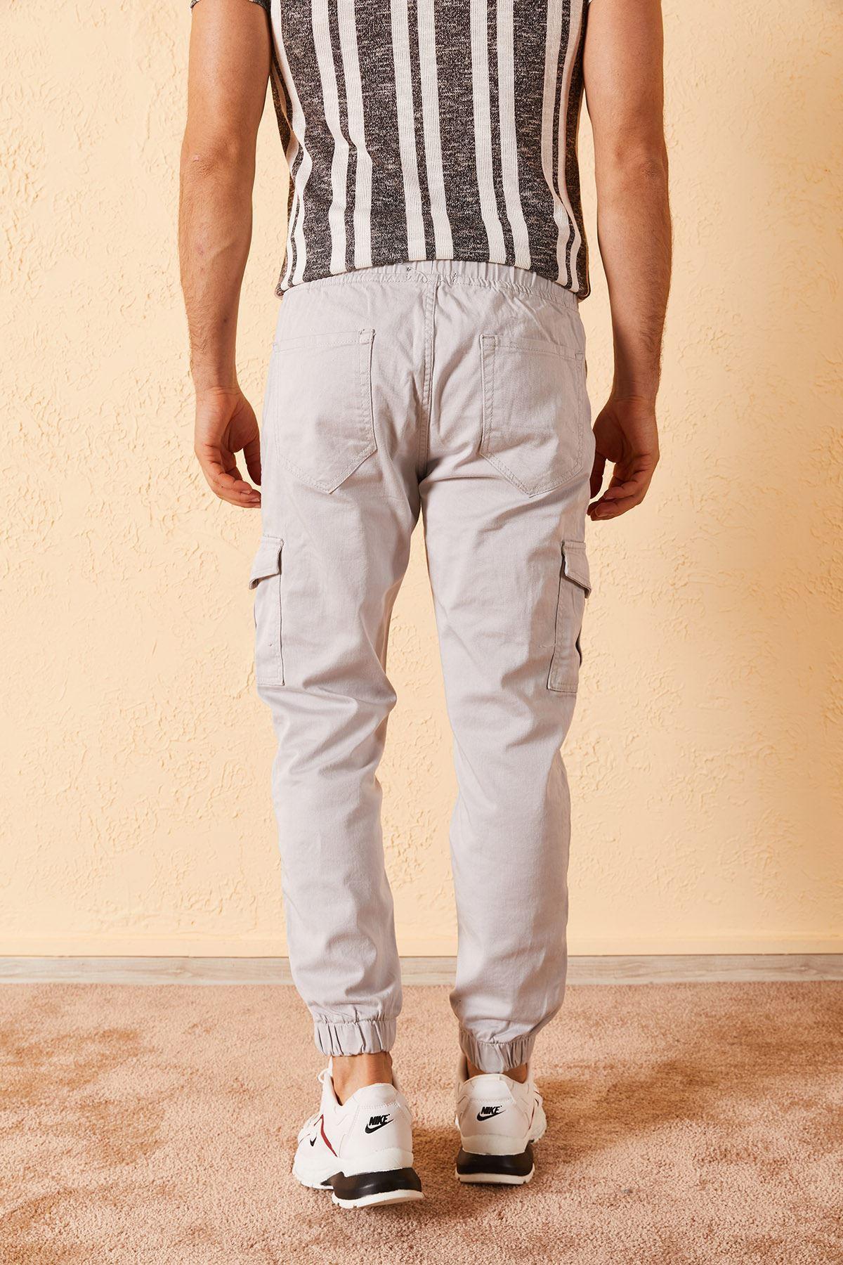 Erkek Paça Lastikli Yan Cepli Pantolon