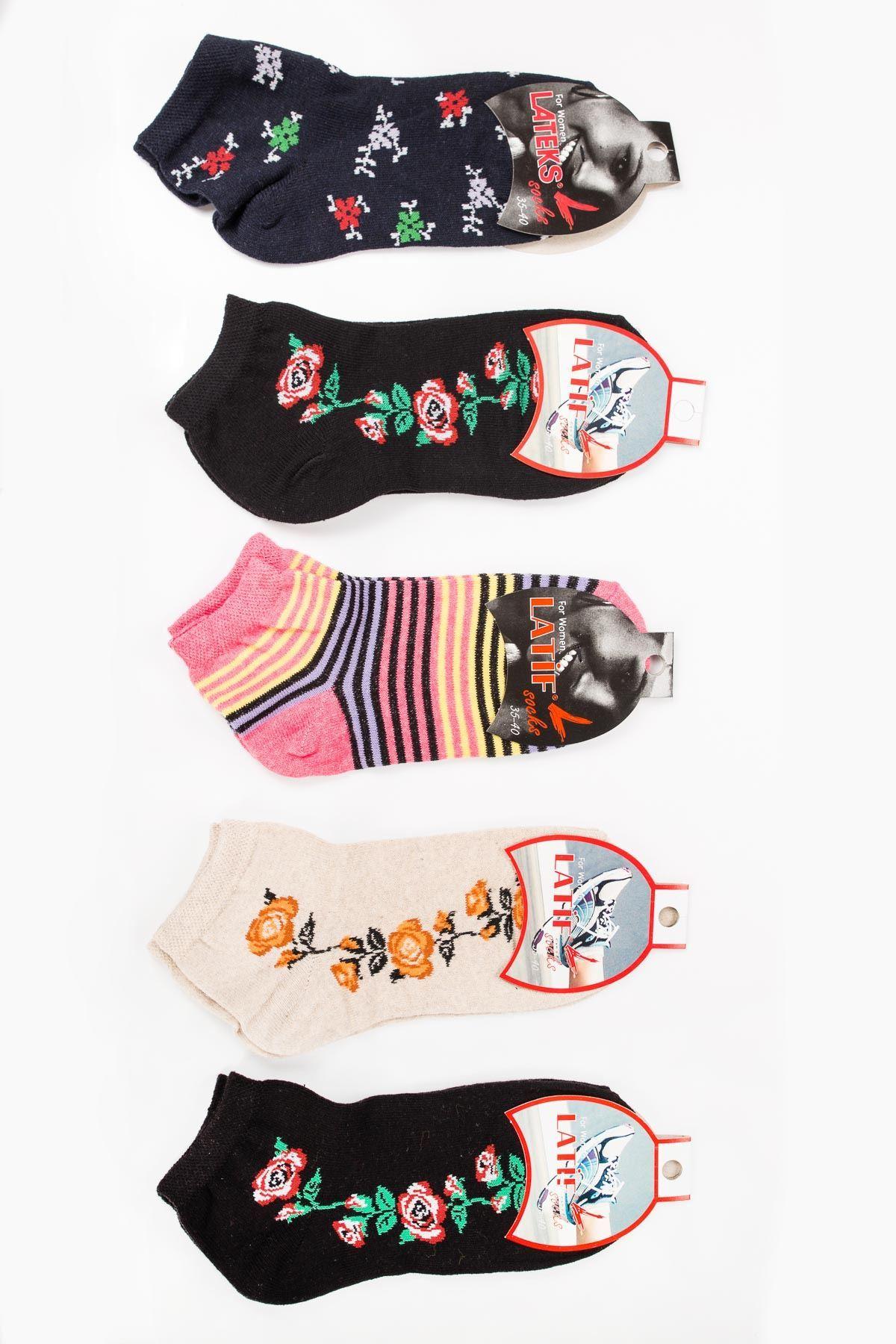 Kadın Desenli 2´Li Çorap
