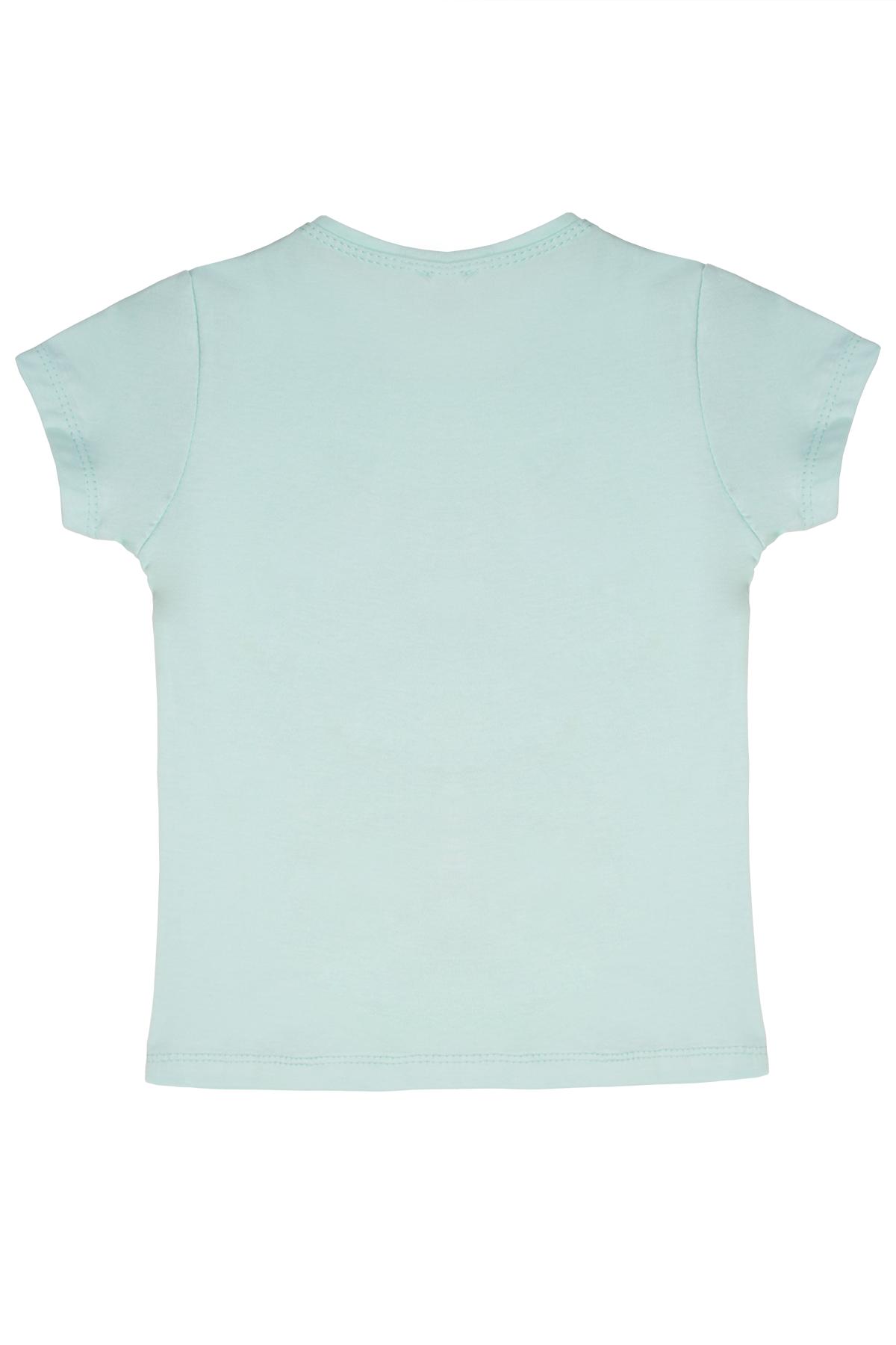 Kız Çocuk Kelebek Baskılı Mint Tişört
