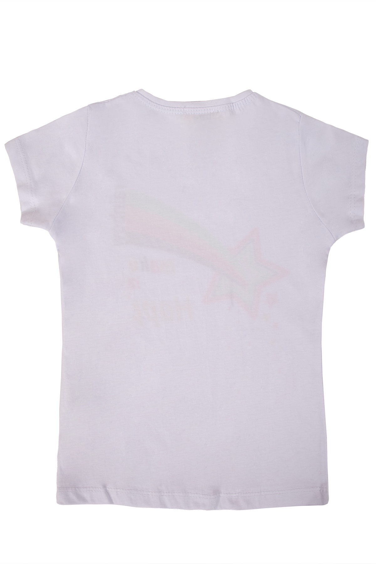 Kız Çocuk Monday Sim Baskılı Beyaz Tişört