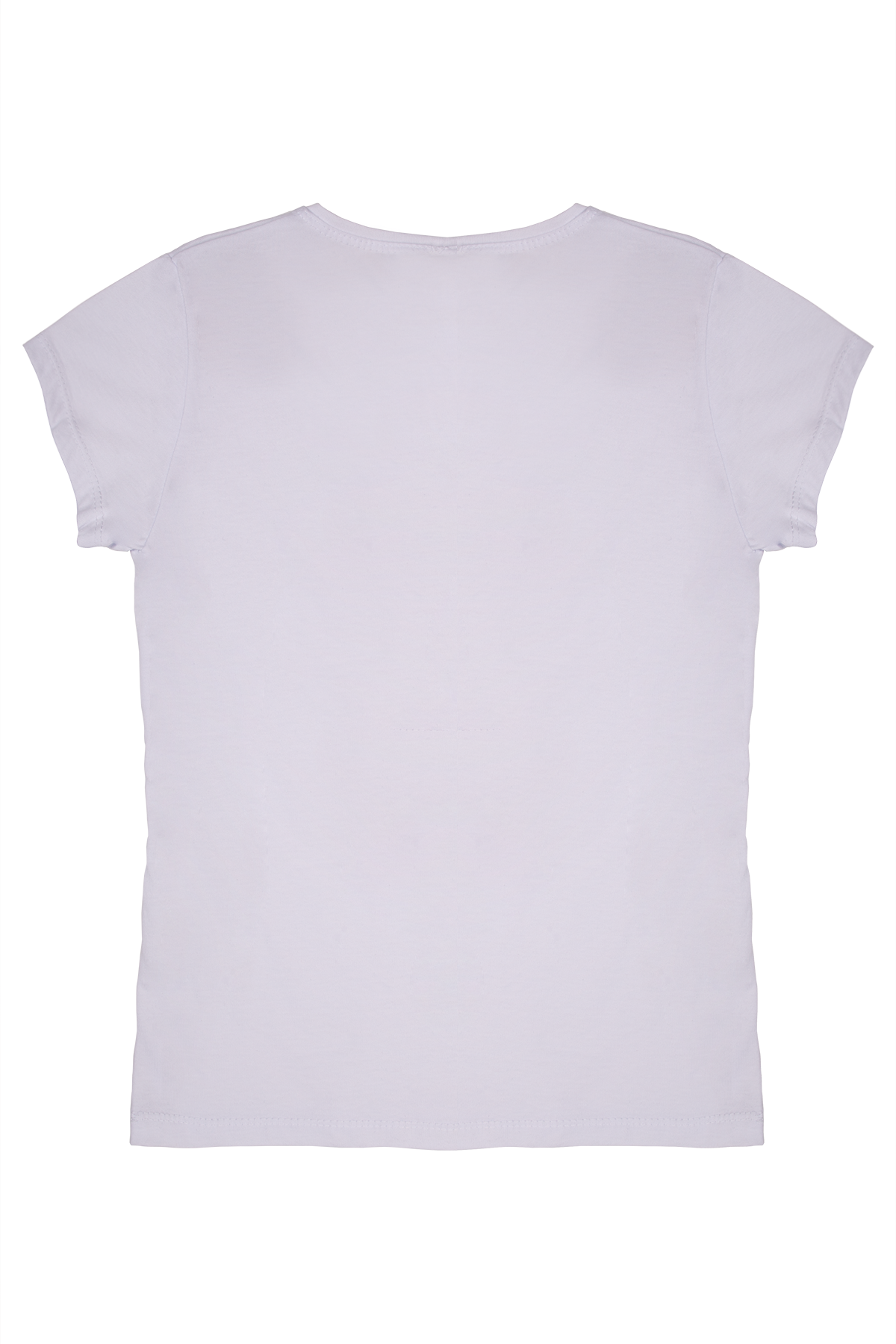 Kız Çocuk Fashion Baskılı Beyaz Tişört