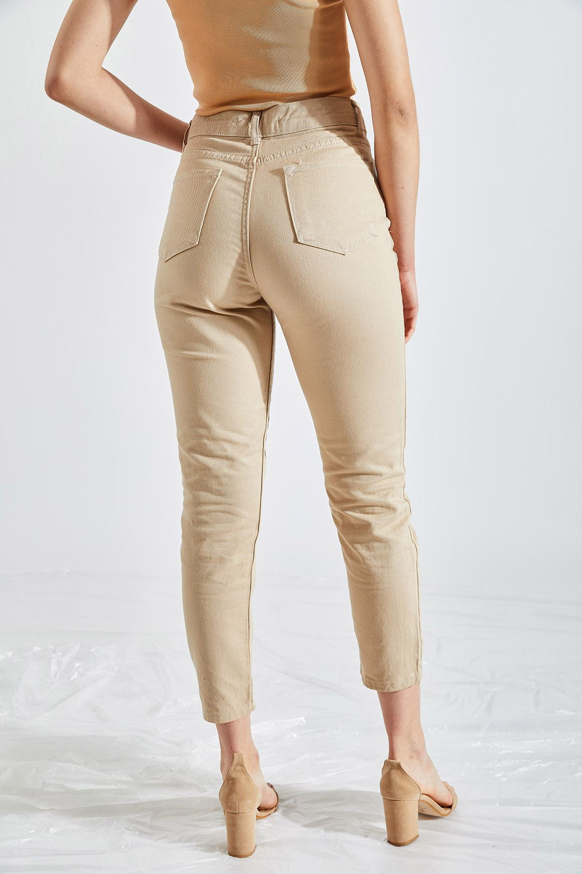 Kadın Boyfriend Vizon Kot Pantolon