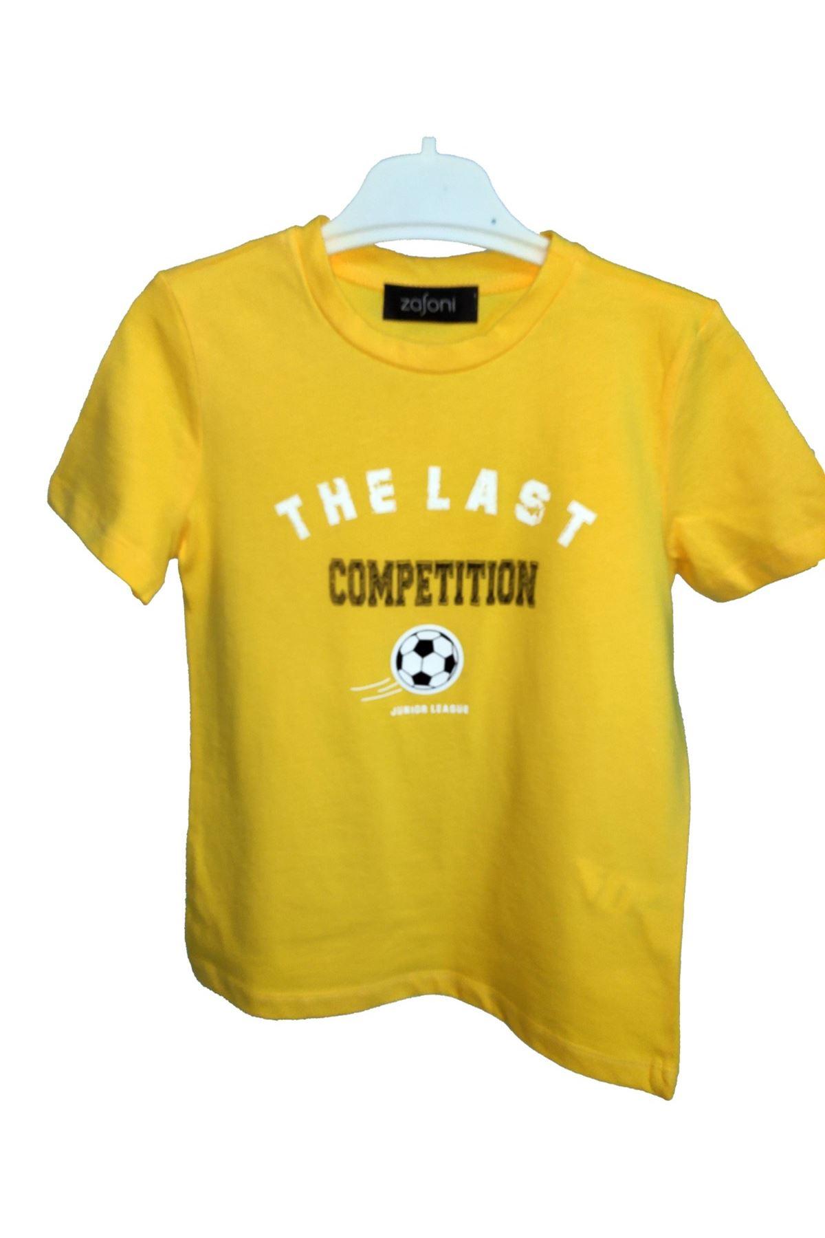Erkek Çocuk Baskılı Sarı Tişört