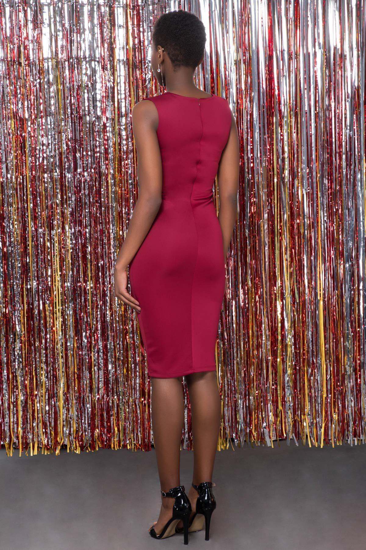 Sırt Fermuarlı Elbise